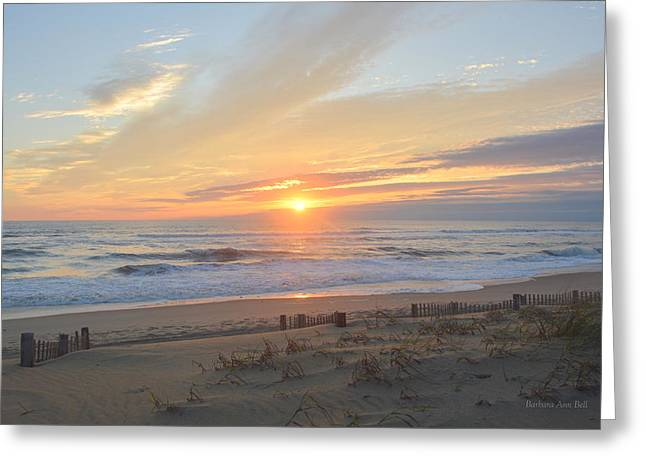 Greeting Card featuring the photograph September Sunrise  30 by Barbara Ann Bell