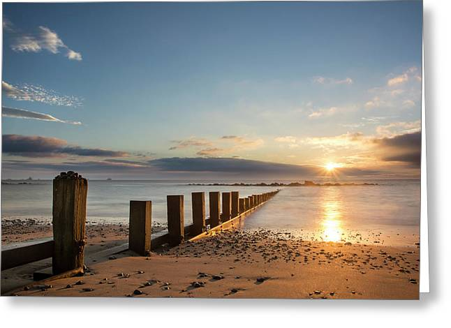September Sunrise At Aberdeen Beach Greeting Card