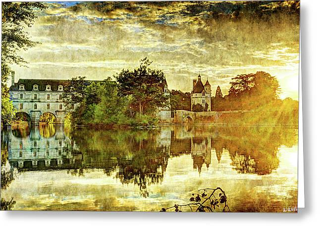 September Sunset In Chenonceau - Vintage Version Greeting Card