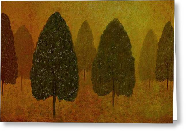 September Trees  Greeting Card by David Dehner