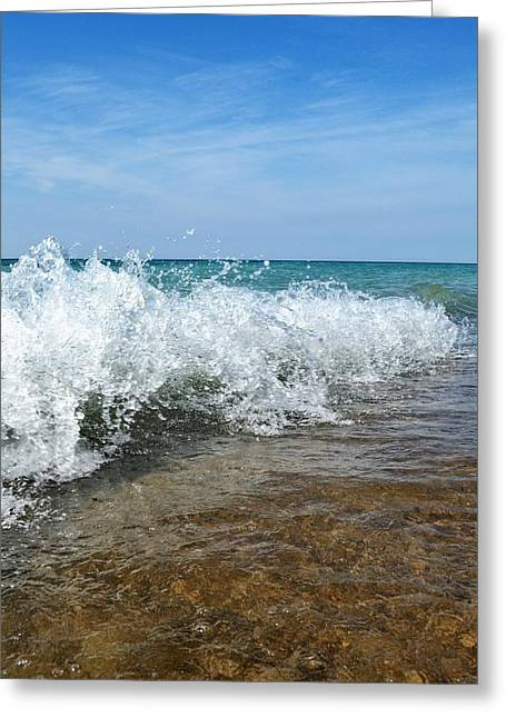September Waves Greeting Card by Michelle Calkins