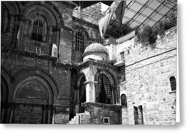 Sepulchre Architecture Greeting Card by John Rizzuto