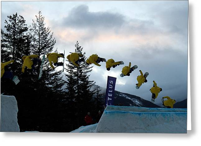 Sequence  Of A Snowboarder At The Telus Snowboard Festival Whistler 2010 Greeting Card