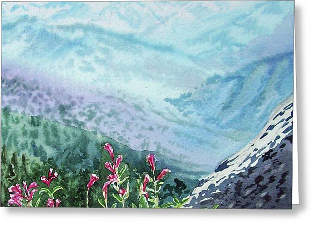 Sequoia Mountains Greeting Card by Irina Sztukowski