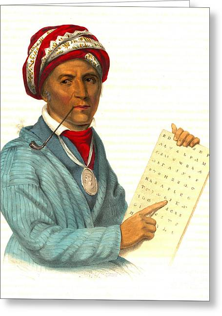 Sequoyah 1838 Greeting Card
