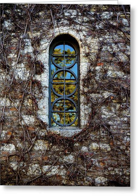 Serbian Church Window Greeting Card