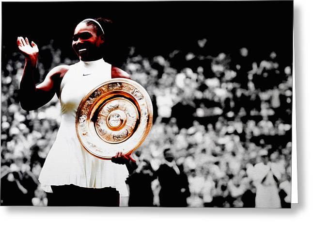 Serena 2016 Wimbledon Victory Greeting Card by Brian Reaves