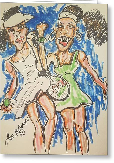 Serena And Venus Williams Greeting Card