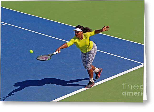 Serena Williams 1 Greeting Card by Nishanth Gopinathan
