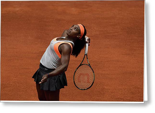 Serena Williams 3 Greeting Card by Dani Pozo