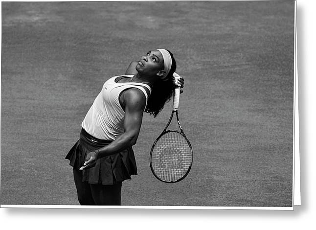 Serena Williams 4 Greeting Card by Dani Pozo
