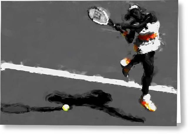 Serena Williams 5r Greeting Card by Brian Reaves