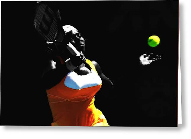 Serena Williams 6b Greeting Card by Brian Reaves