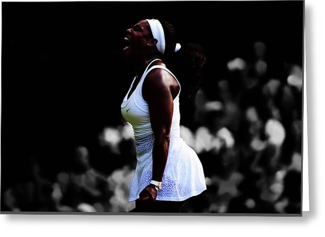 Serena Williams 6c Greeting Card