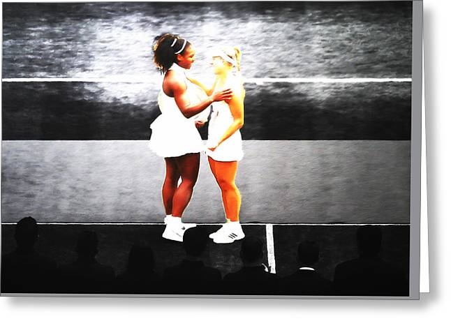 Serena Williams And Angelique Kerber 3a Greeting Card by Brian Reaves