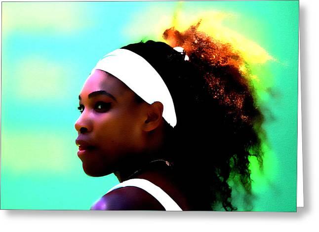 Serena Williams Deep Focus Greeting Card