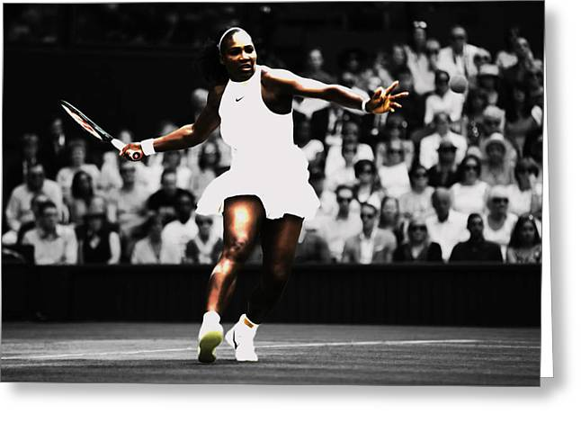 Serena Williams Defining Moment Greeting Card