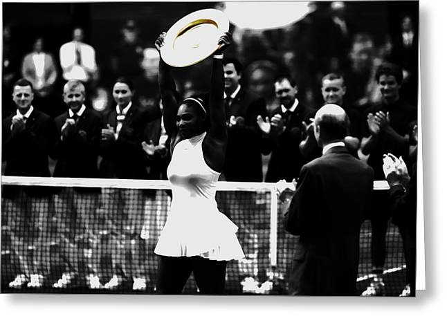 Serena Williams Eye On The Prize Greeting Card