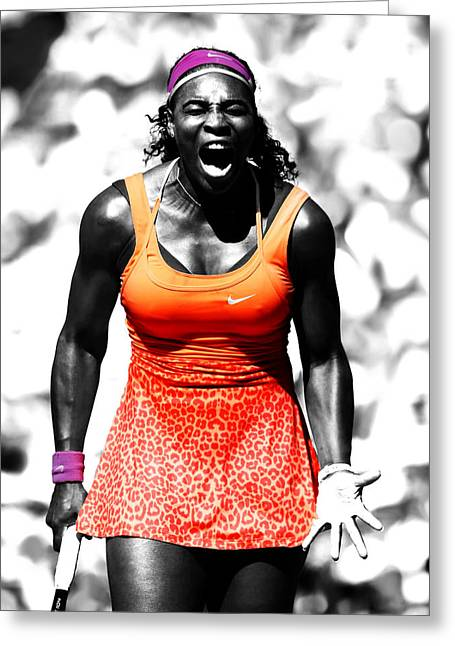 Serena Williams Fired Up Greeting Card