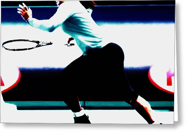 Serena Williams Hot Pursuit Greeting Card by Brian Reaves
