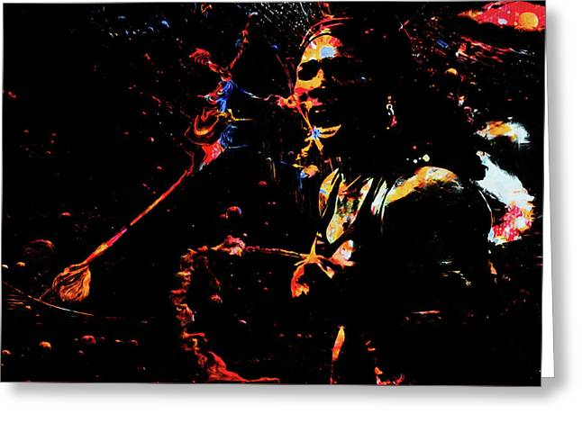 Serena Williams Color Splash 1a Greeting Card