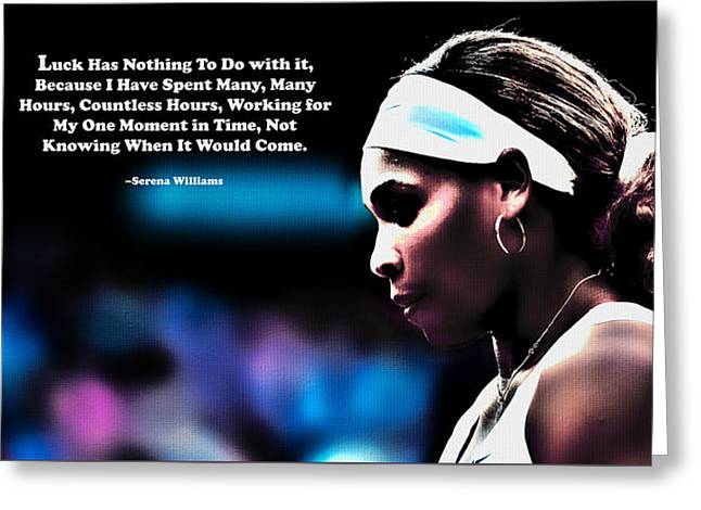 Serena Williams Motivational Quote 1b Greeting Card