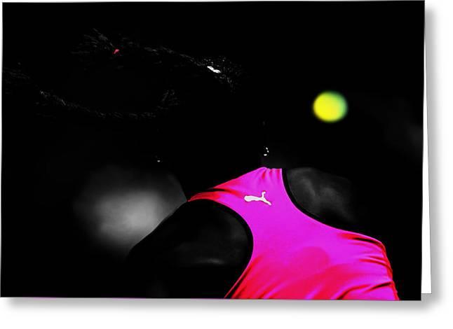 Serena Williams Return 2c Greeting Card