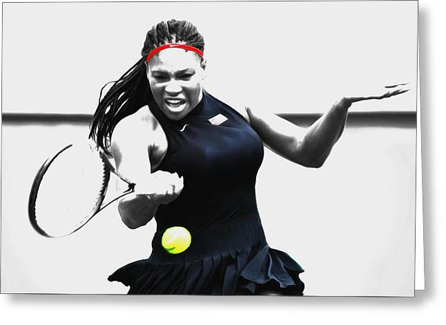 Serena Williams Stay Focused Greeting Card
