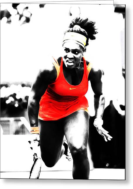 Serena Williams Go Get It Greeting Card