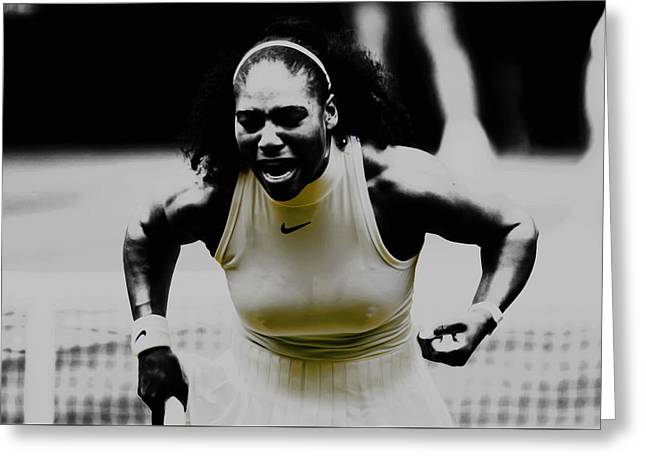 Serena Williams Still I Rise 1a Greeting Card