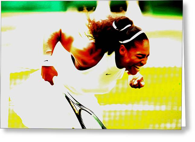 Serena Williams Still I Rise Greeting Card
