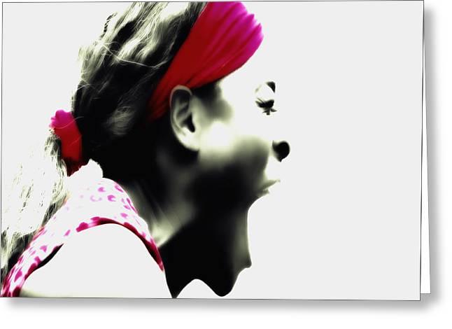 Serena Williams Taste Of Victory Greeting Card by Brian Reaves