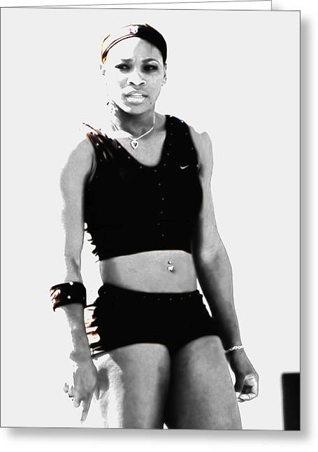 Serena Williams Who Next Greeting Card by Brian Reaves