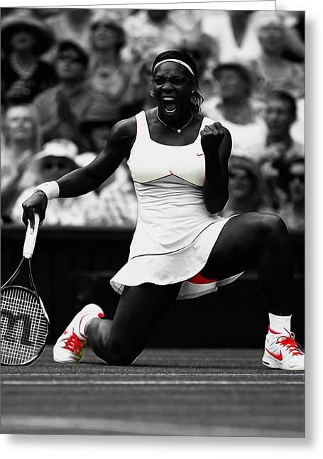 Serena Williams Wimbledon 2010 Greeting Card