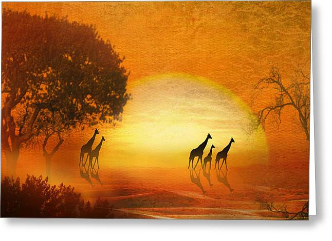 Serenade Of The Serengeti Greeting Card