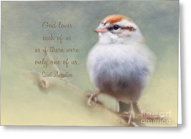 Serendipitous Sparrow - Quote Greeting Card