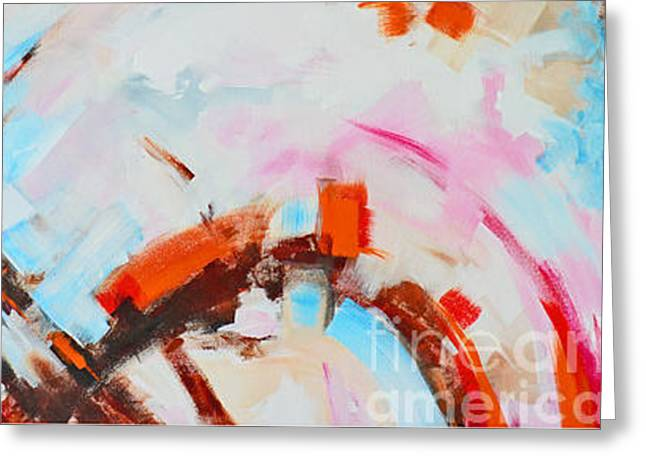 Serendipity No.1 And 2 Modern Abstract Art - Diptych Greeting Card by Patricia Awapara