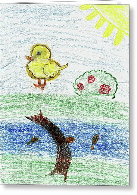 Serene A Greeting Card by Serene A