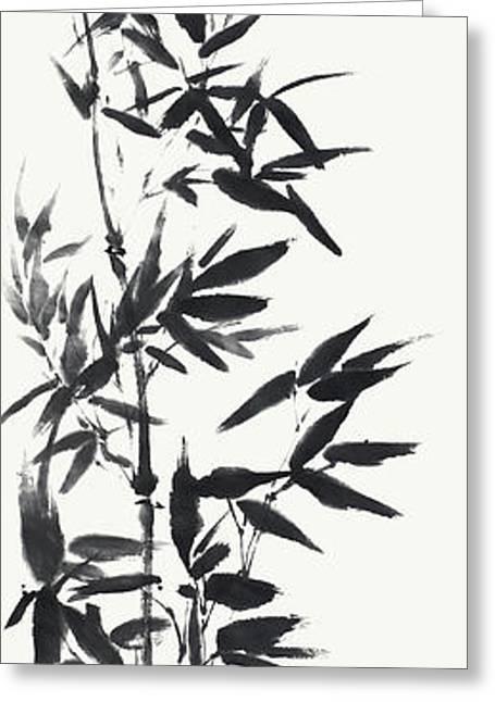 Serene Bamboo Greeting Card by Nadja Van Ghelue