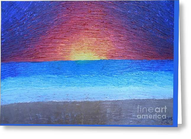 Serene Dream Greeting Card by Caleb Grow
