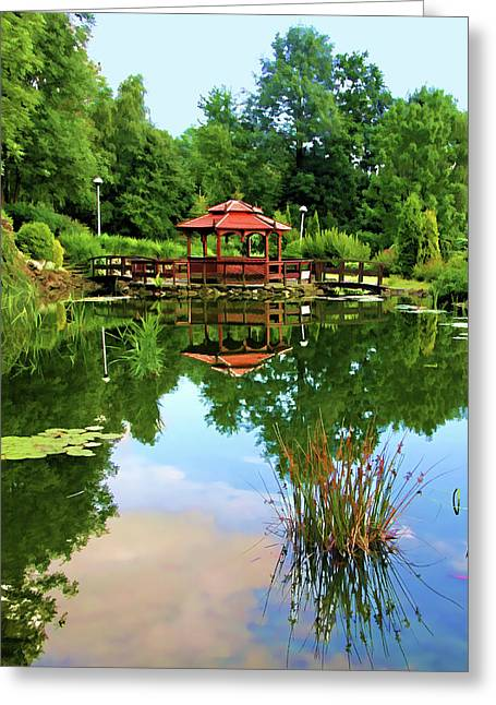 Serene Garden Greeting Card
