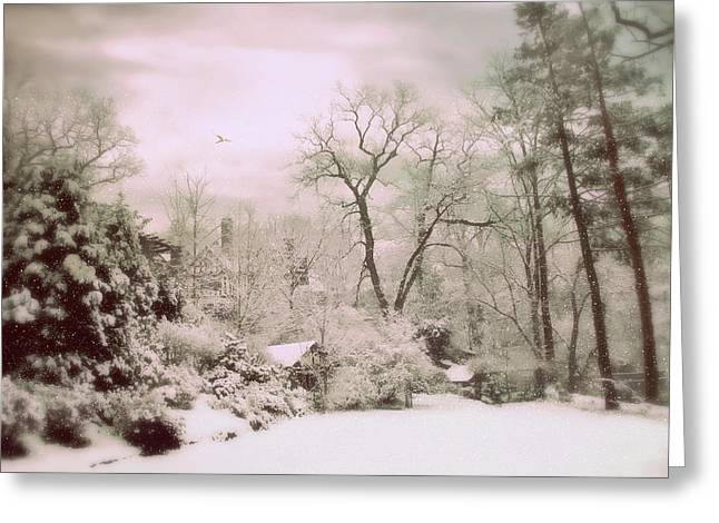 Greeting Card featuring the photograph Serene In Snow by Jessica Jenney