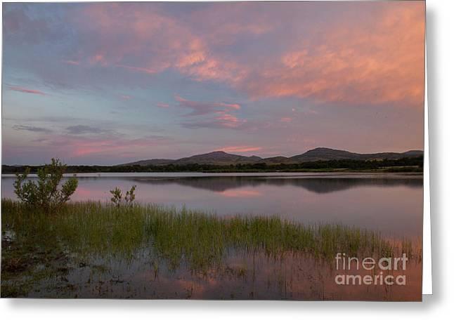 Serene Lake Greeting Card by Iris Greenwell