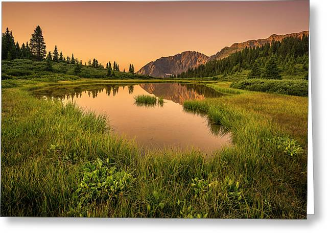 Serene Lake Greeting Card