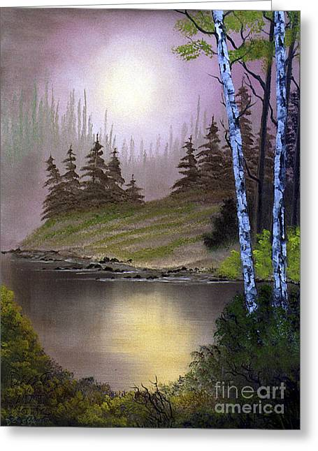 Ebsq Greeting Cards - Serene Nightscape Greeting Card by Dee Flouton