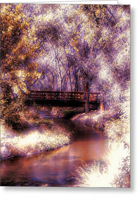 Serene River Bridge Greeting Card