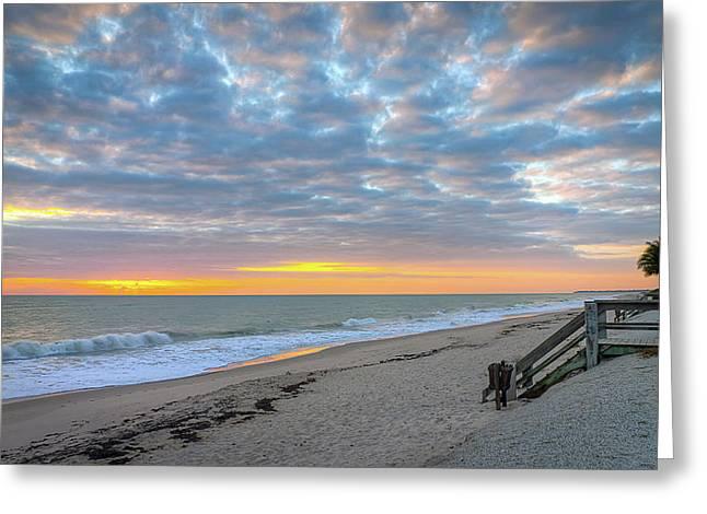 Serene Seascpe Sunrise Greeting Card
