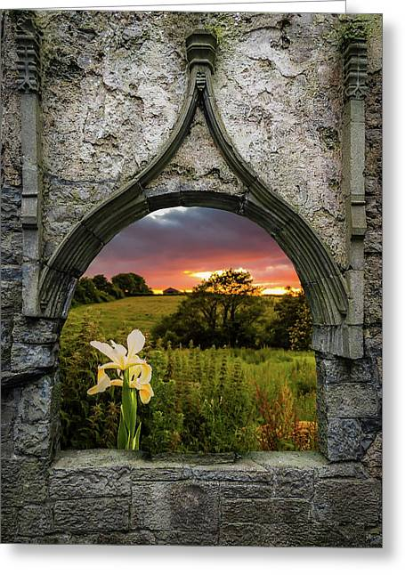 Greeting Card featuring the photograph Serene Sunset Over County Clare by James Truett