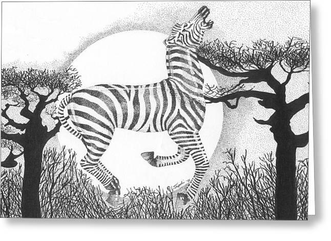 Serengeti Dreams Greeting Card by Lawrence Tripoli