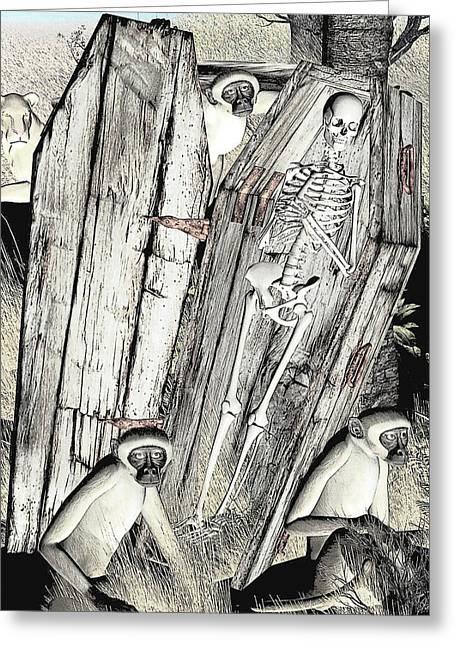 Greeting Card featuring the digital art Serengeti Scavengers by Maynard Ellis